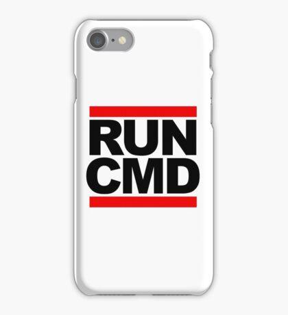 RUN CMD - black version iPhone Case/Skin