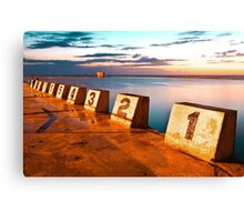 Merewether Ocean Baths in a Golden Sunrise Canvas Print
