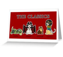 Classic Monsters Greeting Card