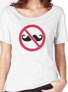 No Mustache Women's Relaxed Fit T-Shirt