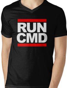 RUN CMD - white version Mens V-Neck T-Shirt
