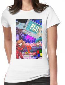 Vaporwave Junk Womens Fitted T-Shirt