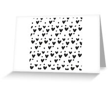 Black and White little love Greeting Card