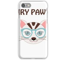Hairy Pawtter cute shirt  iPhone Case/Skin