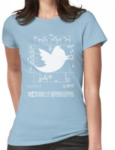 Tweetie Bird Architectural Dimensions Womens Fitted T-Shirt
