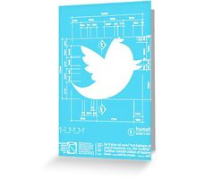 Tweetie Bird Architectural Dimensions Greeting Card