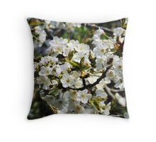 Pear Blossoms Throw Pillow