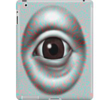 Anaglyph 3D Psychedelic evil eye ( red blue glasses needed for  3d effect) iPad Case/Skin