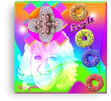 Go Nuts with Paula's Fresh Donuts Canvas Print