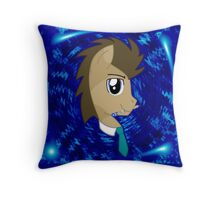 Doctor Whooves Version 2 Throw Pillow
