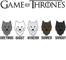 Wolves of GoT by Kleanthis254
