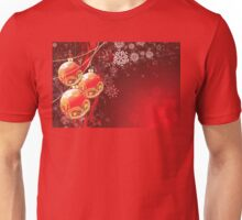 Red Christmas Balls Unisex T-Shirt