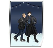 John Teaches Sherlock to Ice Skate Poster