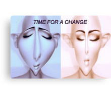 Time for a change Canvas Print