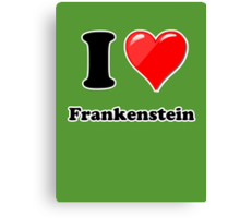 I Love Frankenstien Canvas Print