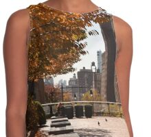 nyc rooftop in fall Contrast Tank