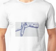 Pen Drawing of Clay Sculpting Tools Unisex T-Shirt