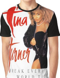 Tina Turner - World Tour - Reproduction Concert Tee 1987 Graphic T-Shirt