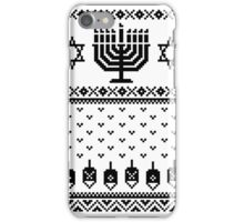 Ugly Happy Chanukah Faux Sweater | Hanukkah T-Shirt iPhone Case/Skin