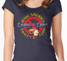 Make America Smart Again  - No Common Core Red Yellow and BlueTrump Funny T-Shirt Women's Fitted Scoop T-Shirt