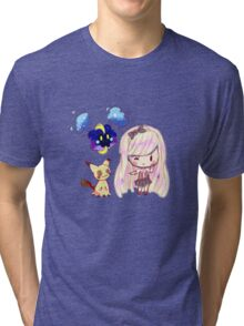 Chibi Sun and Moon Pokemon Tri-blend T-Shirt