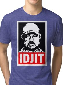 "Supernatural Bobby Singer ""IDJIT"" Tri-blend T-Shirt"