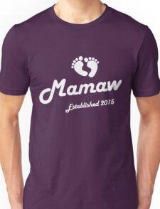 Mamaw Established Est 2015 New Baby T-Shirt Unisex T-Shirt