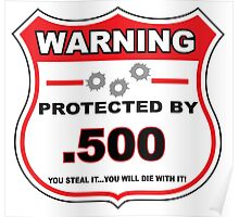 500 Protected by 500 Shield Poster