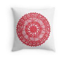 Illustrated Christmas Holiday Mandala  Throw Pillow