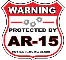 Ar-15 Protected by Ar-15 Shield by gungifts