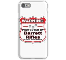 Barrett Rifles Protected by Barrett Rifles Shield iPhone Case/Skin