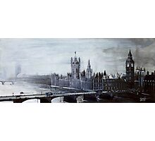 Foggy London Town Photographic Print