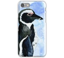 African Penguin Watercolor Arctic Ice Blue Winter iPhone Case/Skin