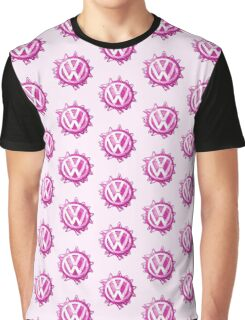 Pink VW look-a-like Swirl Graphic T-Shirt