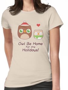 Owl Be Home for the Holidays Womens Fitted T-Shirt