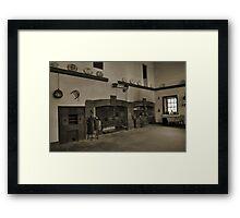 Victorian Kitchen. Framed Print