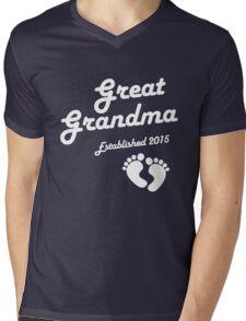Great Grandma Established Est 2015 New Baby T-Shirt Mens V-Neck T-Shirt