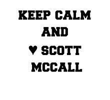 keep calm and ♥ Scott McCall Photographic Print