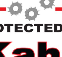Kahr Protected by Kahr Shield Sticker