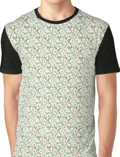 Green/ Red floral Graphic T-Shirt