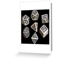 dungeons and dragons dice game shirt Greeting Card