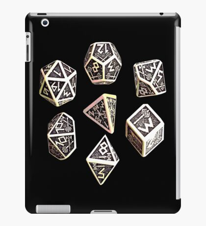 dungeons and dragons dice game shirt iPad Case/Skin