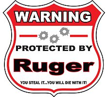 Ruger Protected by Ruger Shield by gungifts