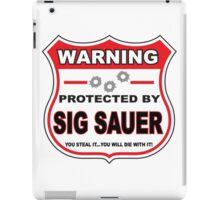 Sig Sauer Protected by Sig Sauer iPad Case/Skin