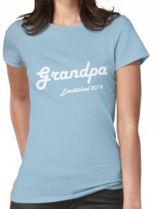 Grandpa Established Est 2014 New Baby T-Shirt Womens Fitted T-Shirt