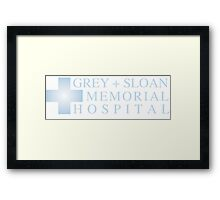GREY + SLOAN MEMORIAL HOSPITAL   GREY'S ANATOMY Framed Print