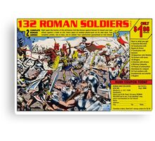 Roman Soldiers Comic Book Ad Canvas Print