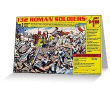 Roman Soldiers Comic Book Ad Greeting Card