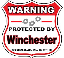 Winchester Protected by Winchester by gungifts