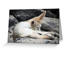 Sleeping Fox Greeting Card